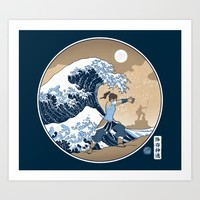 The Great Wave of Republic City Art Print by adho1982