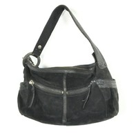 Lucky Brand Black Leather 'Fugitive' Bag NEW