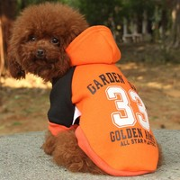 Fashion Dog Clothes Winter Pets Dog Hoodies Coat Warm Puppy Clothes Jacket Outfit For Dog High Quality Hoodie Clothing 10S1Q