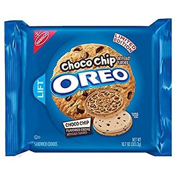 Oreo Choco Chip Flavored Sandwich Cookies, LIMITED EDITION 10.7 oz (2 Pack)