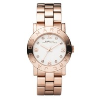 Ladies' Marc by Marc Jacobs Amy Rose Gold Tone Crystal Watch, 36mm