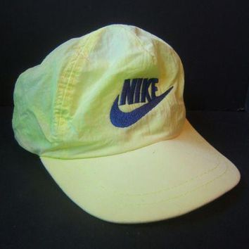 CREYRQ5 Vintage Green Nike Hat Faded Loud Bright Retro Snapback Baseball Cap
