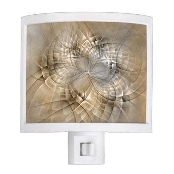 Earth Tones Abstract Modern Fractal Art Texture Night Light