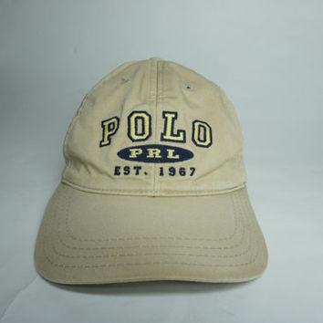 e34192db78c Vintage Polo Ralph Lauren Khaki Strapback from FlowersVTG on Etsy