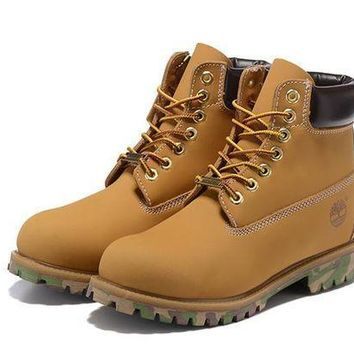 Timberland For Men Women 6-inch Premium Waterproof Wheat Black Camo Boots - Beauty Ticks
