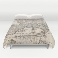 Vintage Map of Europe (1852) Duvet Cover by BravuraMedia | Society6