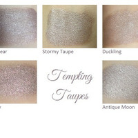 Mineral Eyeshadow Pigment Makeup Sample Set - Tempting Taupes