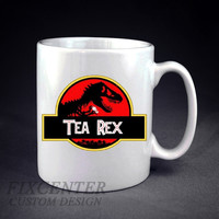 Tea Rex Dinosaur Novelty Personalized mug/cup