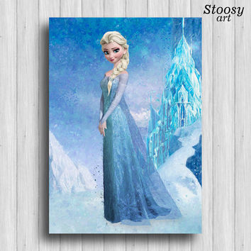 disney princess frozen elsa print girl room decor nursery