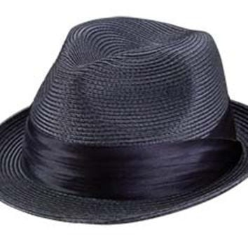 a57f3ddaf9350 Sicily Braided Straw Fedora by Broner from Levine Hat Co.