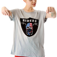Kill City Rider Loose Fit Tee Light Grey