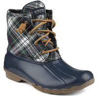 Sperry Women´s Saltwater Quilted Tartan Plaid Waterproof Duck Boots | Dillards