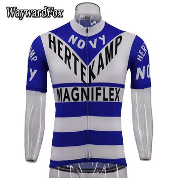 New pro team Cycling Jersey retro Breathable short sleeve bicycle Cycling Clothing Racing Sport Bike Clothes Maillot Ciclismo
