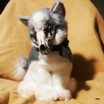 Adopt Ash The Werewolf Skull Plushie From Roxxi1018 On Etsy
