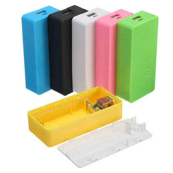 Universal Portable Safety USB Power Bank 2x18650 Battery Charger DIY Box Case Kit For iPhone7 6 Plus 5C 4 SE For Samsung S7 Note