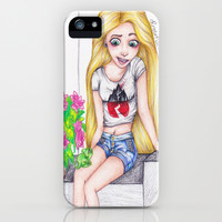 Modern Rapunzel iPhone & iPod Case by Krista Rae
