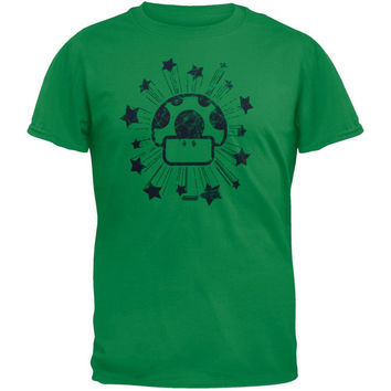 Nintendo - Mushroom Star Distressed T-Shirt
