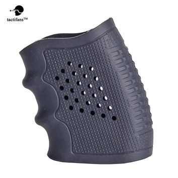 Tactical Slip on Rubber Grip Gloves Grip Sleeve Rubber Grip Cover Black Fits S&W M&P Glock Pistol Handgun Stretch-to-fit Grip