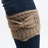 Bow Knit Boot Cuffs