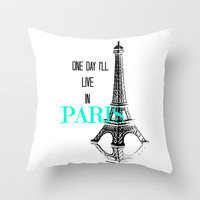 One Day Throw Pillow by Veronica Ventress | Society6