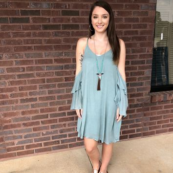 """Soft Smiles"" Sage Dress"