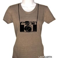 Womens Vintage Camera T-Shirt - Photographer Shirt - Funny Camera Tee - Gift For Her - Geeky Tshirt - S M L Xl 2X