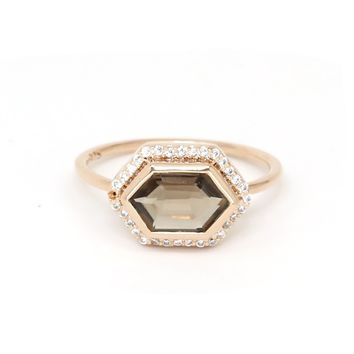 Smoky Quartz Royale Ring