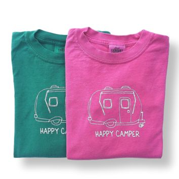 Happy Camper Long Sleeve Tee