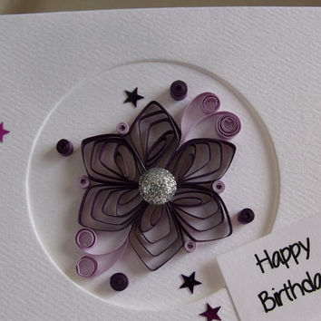 handmade paper quilled birthday card