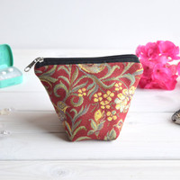 Birds charger bag with zipper, Charger case, Cosmetic pouch, Make Up Pouch, Toiletery bag, Project bag, Travel bag, Coin Purse