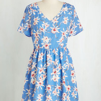 Mid-length Short Sleeves A-line Spring Awakening Dress by ModCloth