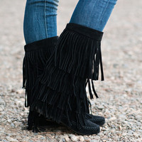 Dancing In My Moccasin Boots (Black)