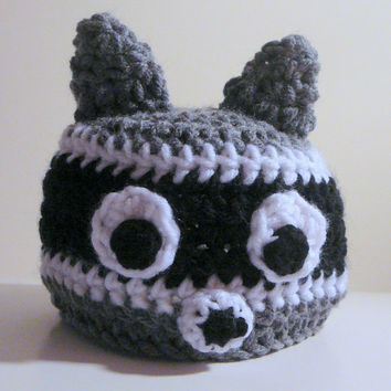 Raccoon Hat PDF Crochet Pattern - Newborn to Adult INSTANT DOWNLOAD