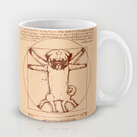 Vitruvian pug Mug by Huebucket