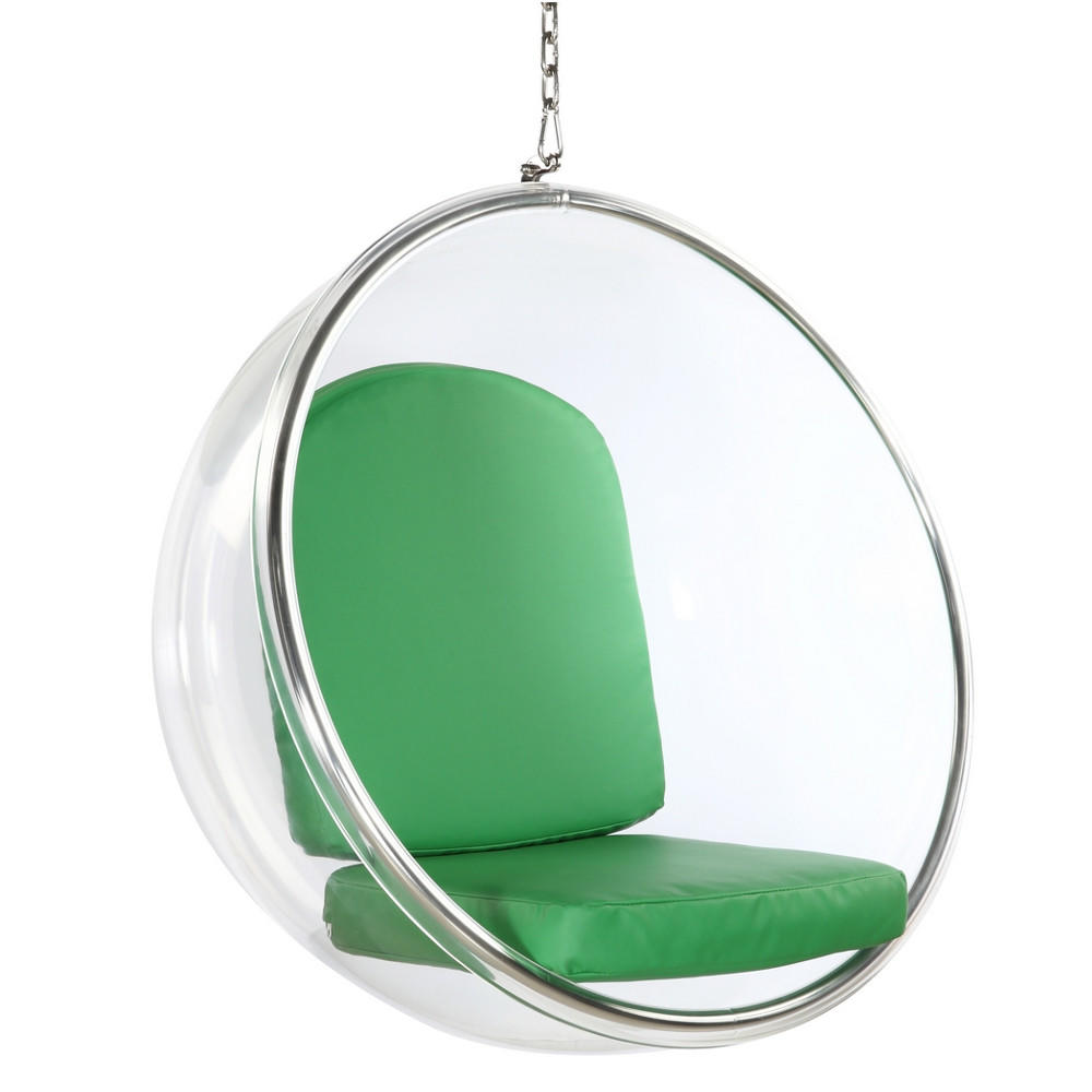 bubble hanging chair green from etriggerz. Black Bedroom Furniture Sets. Home Design Ideas