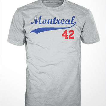 Montreal Royals 42 Tee - Jackie Robinson, baseball, Roosevelt, mlb, Jack, mens, gift, 42 the movie, sports, screen printed, dodgers, LA