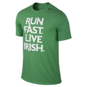 "Nike Shamrock Shuffle ""Run Fast Live Irish"" Men's T-Shirt (Green)"