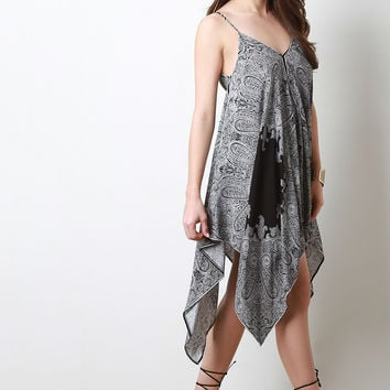 Paisley Trapeze Handkerchief Dress