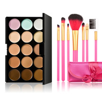 15 Color Make-Up Palette with 7 Powder Brush