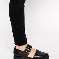 Vagabond Aurora Leather Two Part Flat Shoes at asos.com