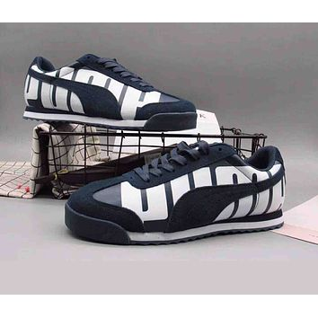 PUMA Valentine His Fashionable Casual Sport Running Skateboard Shoes Sneakers Dark Blue I-A36H-MY