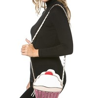 Sweet Frosted Cupcake Shoulder Purse in Pink