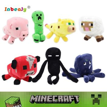 21 Style Minecraft Plush Toys Minecraft Creeper Enderman Wolf Steve Zombie Spider Soft Stuffed Animal Doll Toy for Children Gift