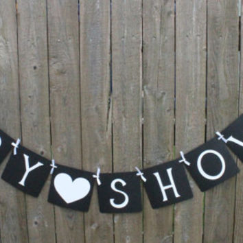 Baby Shower Banner / Neutral / Baby / Shower Decor / Baby Shower Garland / Sign / Decor / Banner / Black