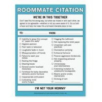 Roommate Citation Nifty Note - A Witty Message Pad by Knock Knock