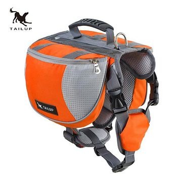 TAILUP Professional Outdoor Travel Dog Backpack Training Goods For Dogs K9