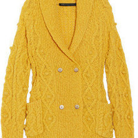 Marc by Marc Jacobs|Beth double-breasted wool-blend cardigan|NET-A-PORTER.COM