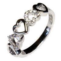 Beautiful Promise Rings - Promise Rings For Her   Silver   Heart   Infinity   Princess Cut and more - The Promise Ring Store