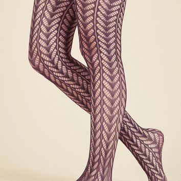 Motif Maven Tights in Plum