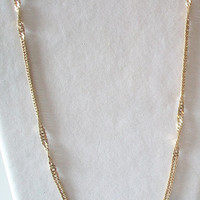 Sarah Coventry Twisted Rope Chain Necklace Costume Jewelry Gold Tone
